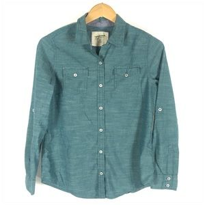 ✅Men's Teal Button Down Slim Fit Long Sleeve Shirt